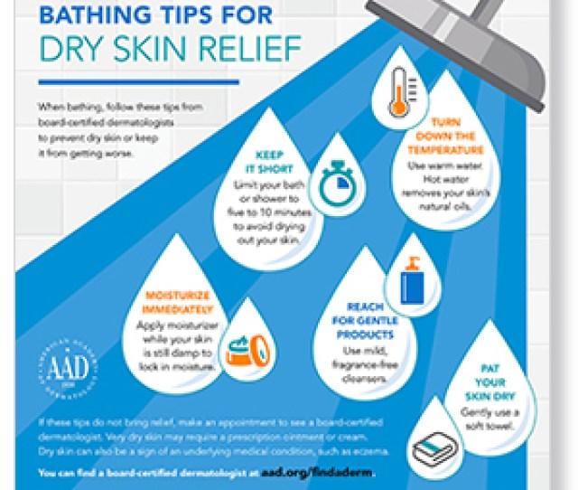 Bathing Tips For Dry Skin Infographic Thumbnail Jpg