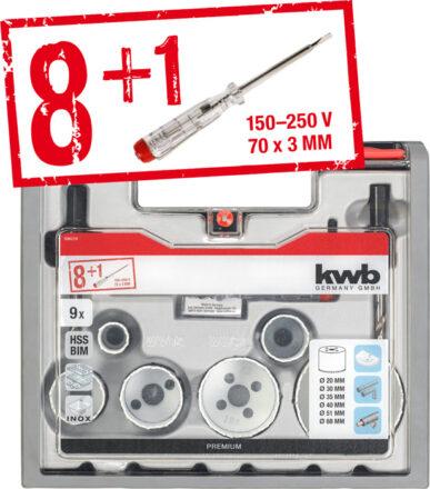 Bi-metal VVS hulssavsæt 9 dele 20-68 mm værktøj