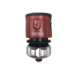 "HERO Slangekobling 3/4"" - m/stop værktøj"