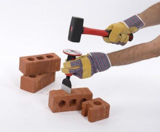Mejsel 100 mm bred med håndbeskytter værktøj