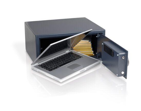 Pengeskab/værdiboks elektronisk LAPTOP