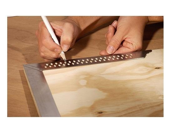 Tømrervinkel 800  mm i rustfri stål værktøj