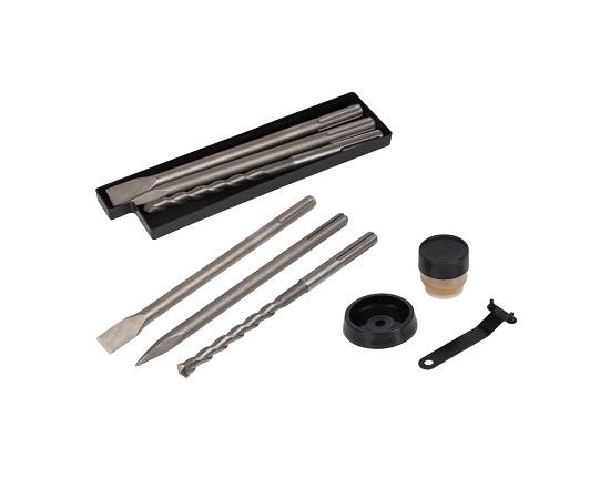 Borehammer i kuffert med 5 dele 1050 W værktøj