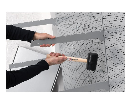 Gummihammer sort 450 gram Ø 54 mm værktøj