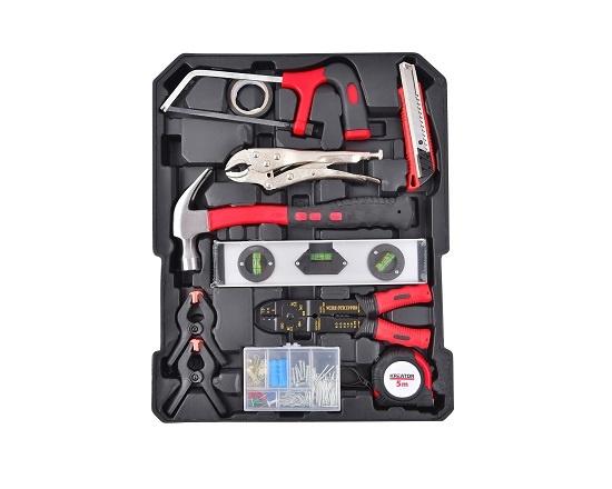 Værktøjstrolley med værktøj 253 dele værktøj