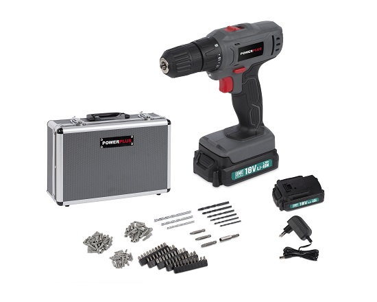 Bore og skruemaskine med 153 dele 18 V værktøj