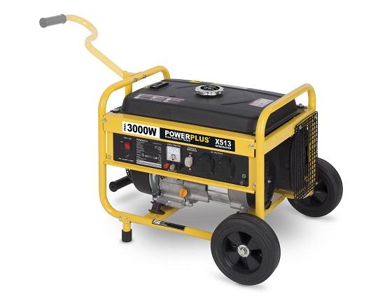 Benzin generator på hjul 4,3 KW 230 V værktøj