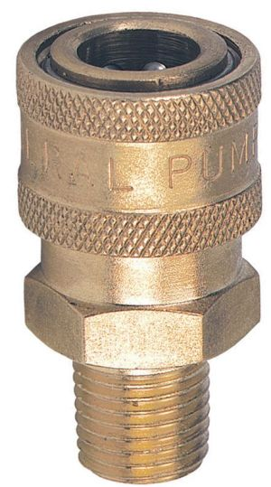 "Brass quick connect socket-1/4""F x 1/4""MNPT"