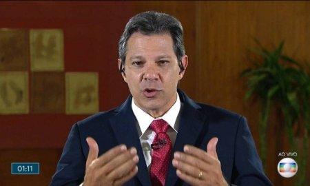 Haddad ao vivo no 'JN': enganando quem? Foto: Reprodução/TV Globo