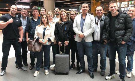 A comitiva do PSL: para conhecer o Big Brother chinês. Foto: Reprodução