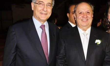 Fernando Pimentel e José Fernando Coura, em foto de 2013: o ministro e o líder das mineradoras. Foto: Tião Mourão/Viver Brasil