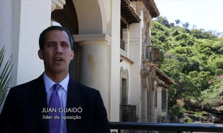 O presidente Juan Guaidó no 'Fantástico': estudando o Plano Real. Foto: Reprodução/TV Globo