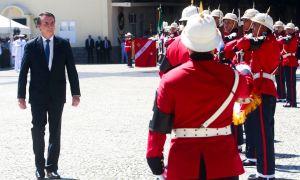 O Presidente no aniversário do Corpo de Fuzileiros Navais: discurso desautoriza a própria eleição. Foto: Tomaz Silva/Agência Brasil
