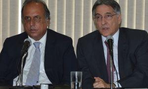 Os ex-governadorez Pezão e Pimentel: as ações sobre um estão com o TRE-MG. O outro, bem... Foto: Valter Campanato/Agência Brasil