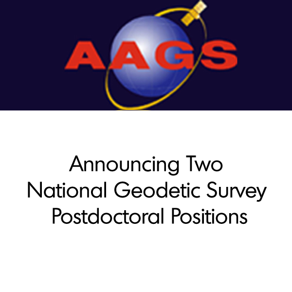 Announcing Two National Geodetic Survey Postdoctoral Positions