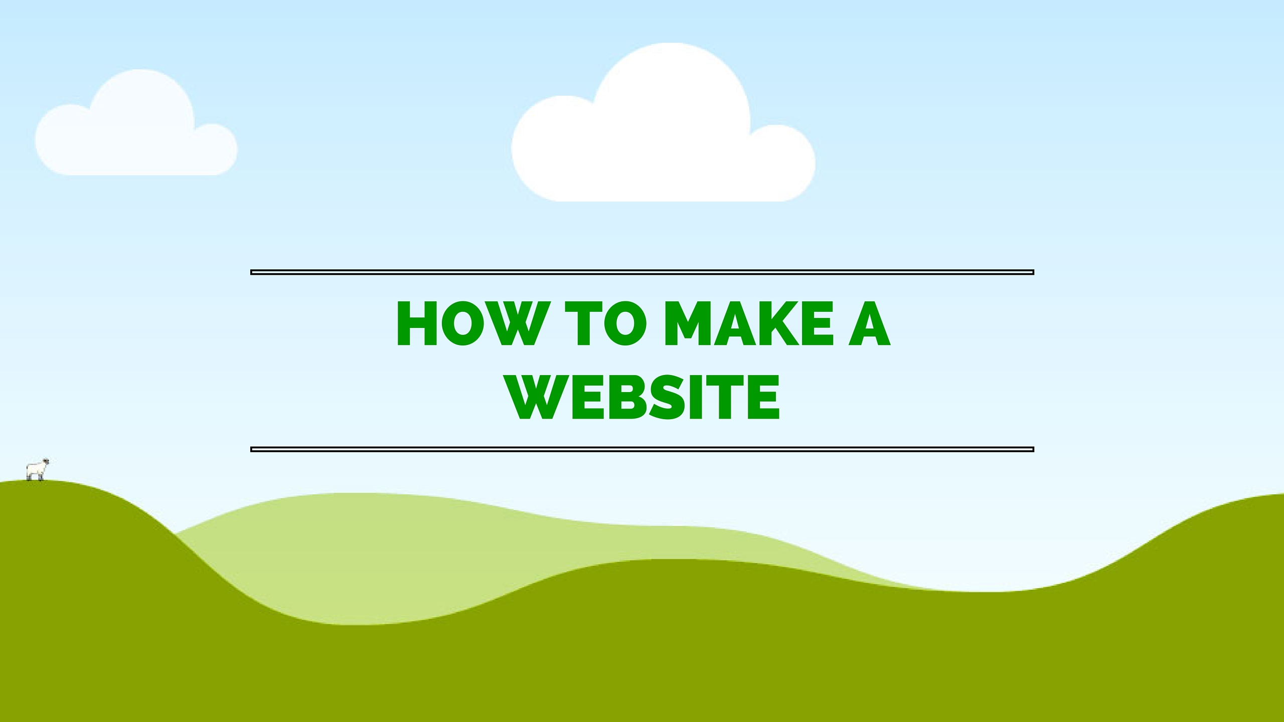 How to make a website