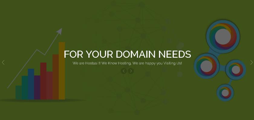 Hostaai homepage