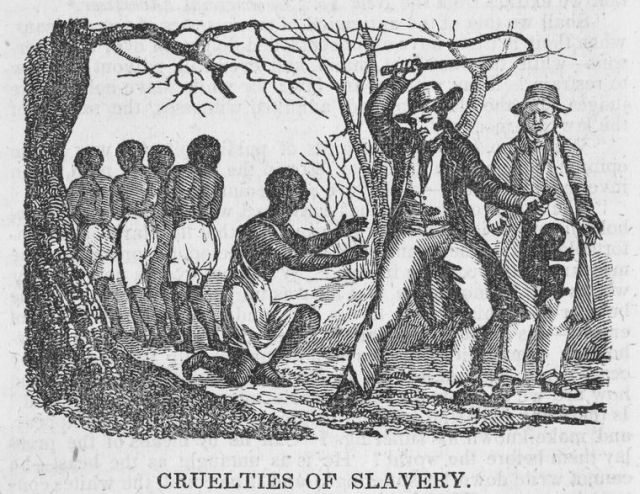 """Cruelties of slavery."" The New York Public Library Digital Collections. 1835-05."