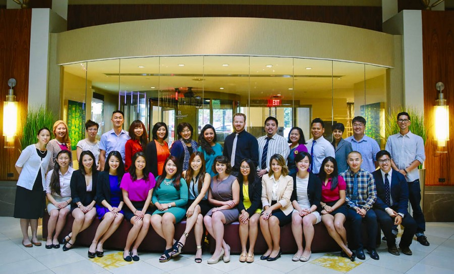 Group photo of AAJA Voice Staff on Tuesday, August 12, 2014. (Conner Jay/AAJA VOICES)