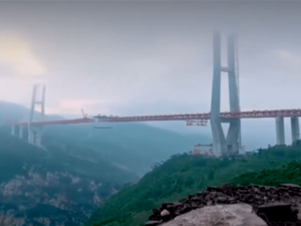 world's highest bridge built and opened in china