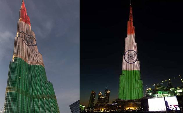 burj khalifa will lighten up in colours of indian flag tonight