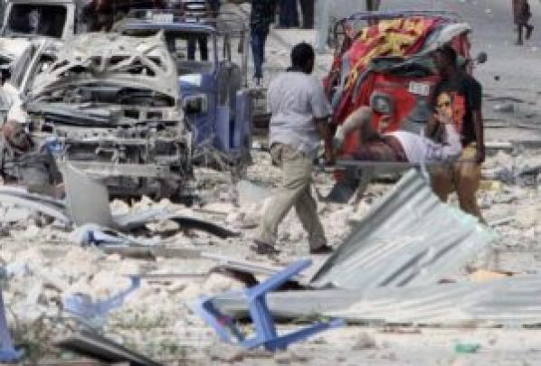 28 people died and more than 40 wounded due to a terror attack in somalia