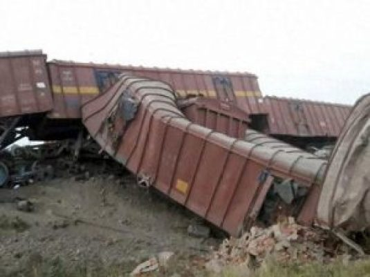 goods train derails in unnao