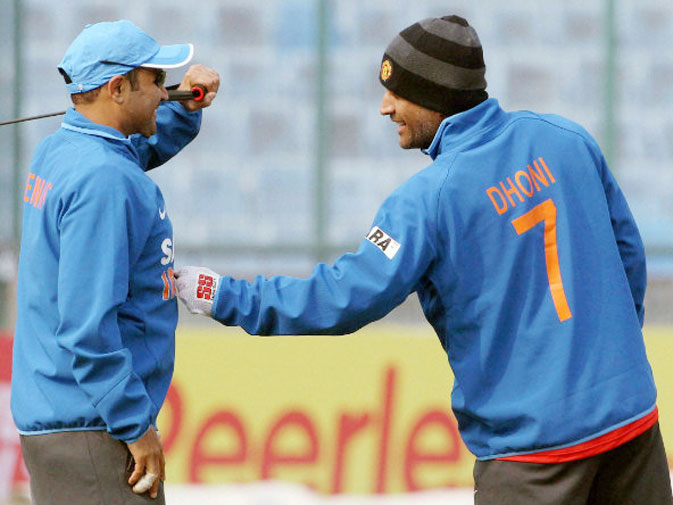 ms dhoni visits former indian cricketer and teammate virender sehwag