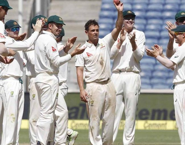 india vs australia test match icc referee chris broad said that pune pitch is poor