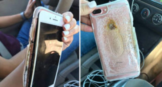 apple iphone 7 plus exploded and catches fire
