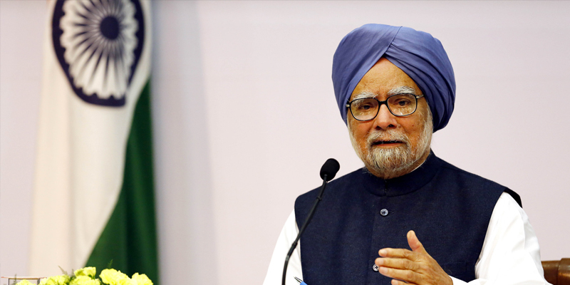former prime minister manmohan singh said that gdp will fall very much due to gst