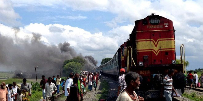 electric shock in a train in bihar