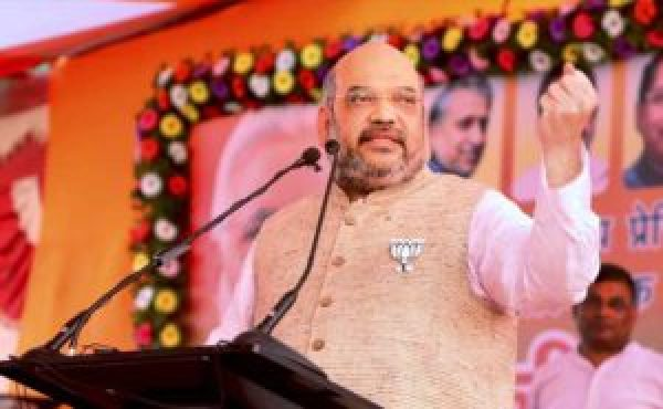 amit shah leaves rally and goes to new delhi
