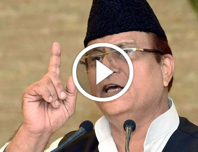 azam khan said that why alone taj mahal parliament house and president's house should also be destroyed
