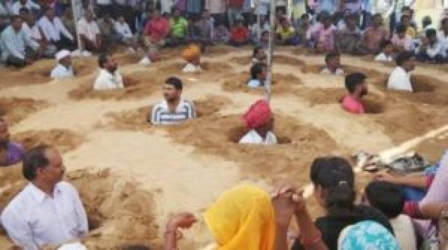 farmers in rajasthan took the form of trance after their land was snatched