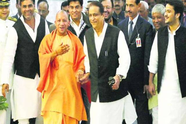 azam khan आज़म खान and yogi together
