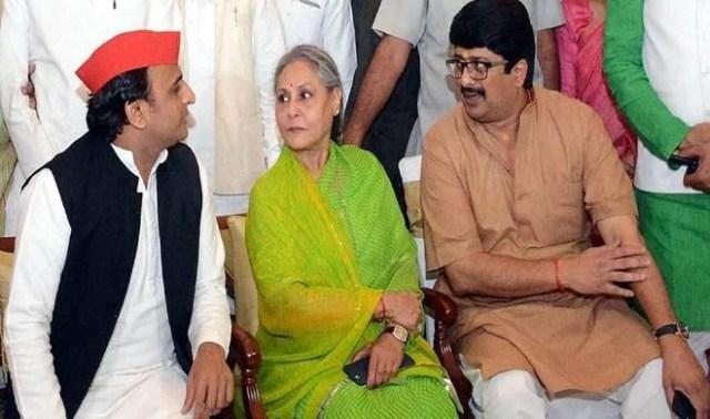 Image result for akhilesh yadav with raja bhaiya on dinner