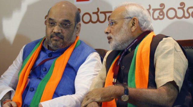 Image result for narendra modi and amit shah sad