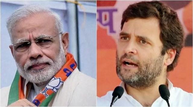 Image result for rahul gandhi and narendra modi