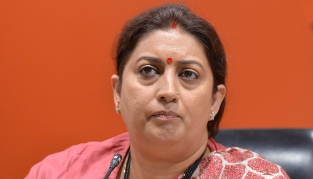 Image result for ink on smriti irani face in poster'