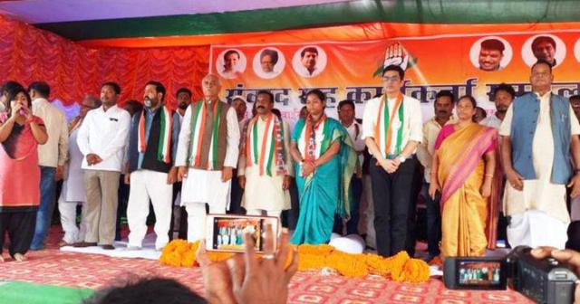 madhu koda joins congress कांग्रेस