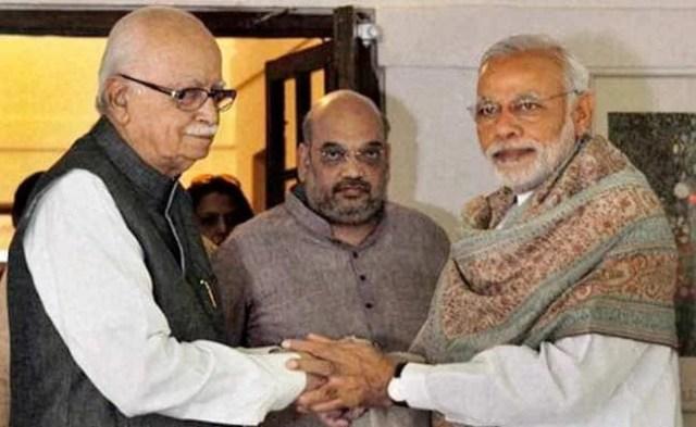 Image result for amit shah modi and advani