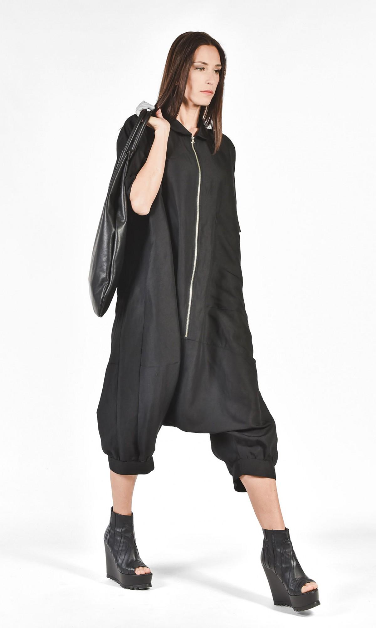 Loose Linen Maxi Jumpsuit