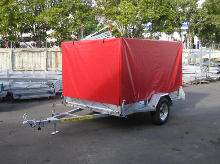 Single Axle Box Trailer for Sale
