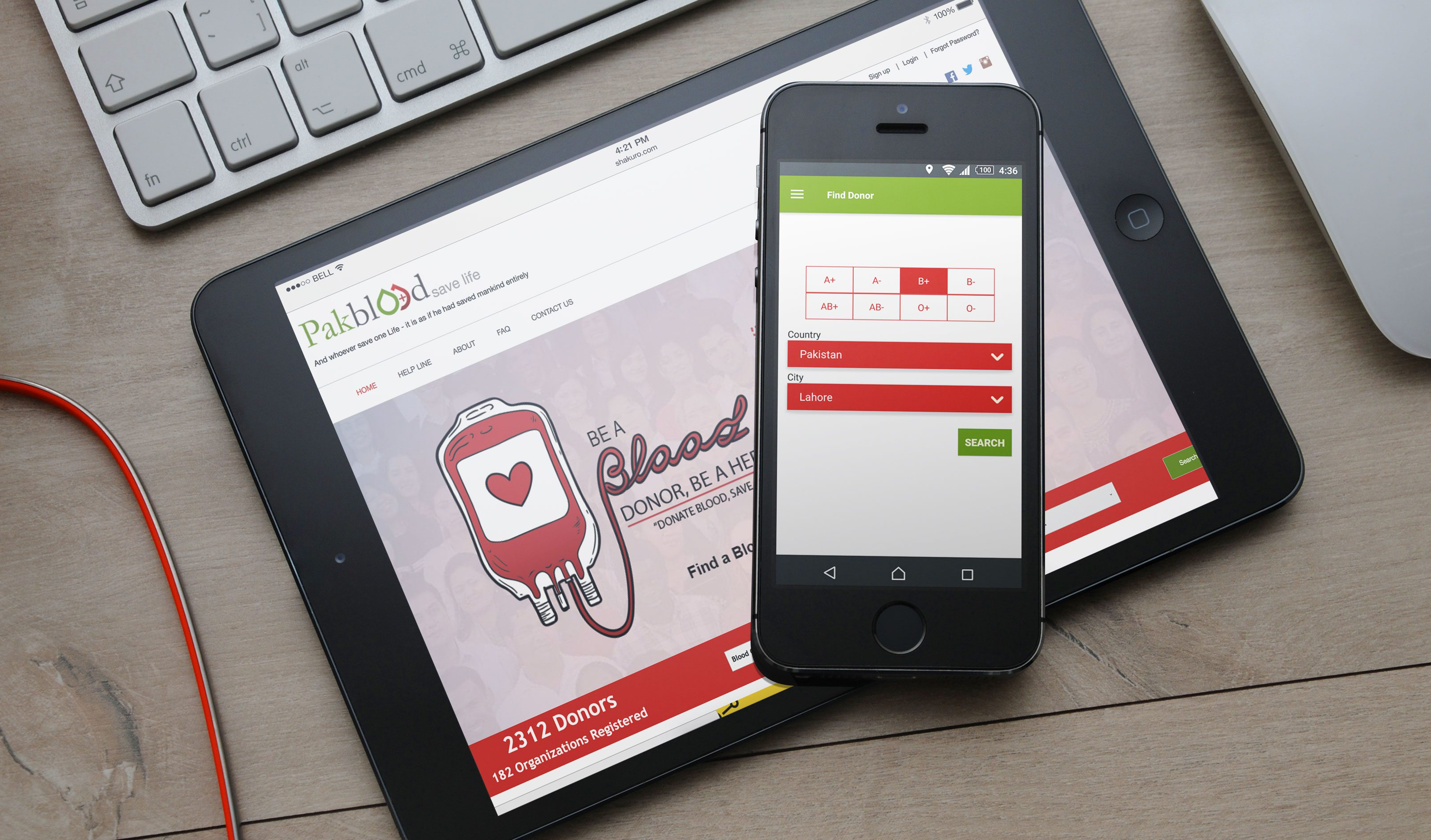 PAKBLOOD-Online Blood Donors Database