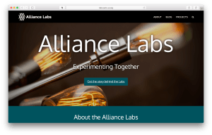 Image of Alliance Labs Home Page