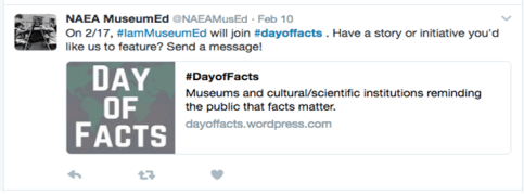NAEA MuseumED Tweet on #DayOfFacts