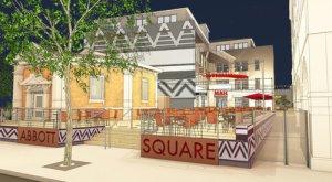 Rendering of the future Abbott Square development.