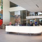 Image of the front desk and lobby area of Mia