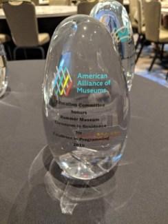 An EdCom award in glass